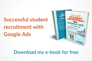 Successful student recruitment with Google Ads-Sidebar